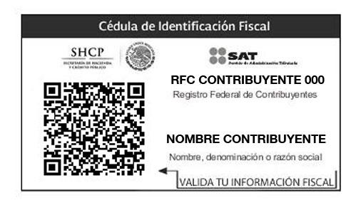 imprimir Cédula de identificación fiscal